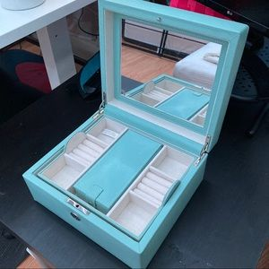 Pottery Barn Tiffany Blue Jewelry Box